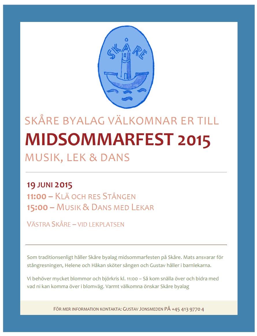 Skåre Midsommarfest 2015